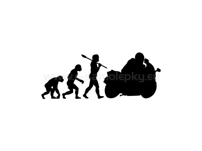 Samolepka - Motocyklista 05 evoluce