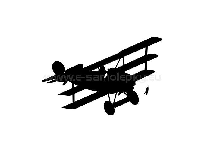 Samolepka - Letadlo Fokker Dr 1
