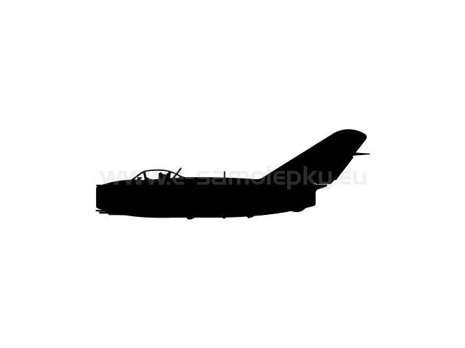 Samolepka - Letadlo Mig 15