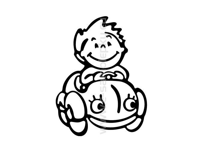 Samolepka - Dítě v autě - Kluk 02