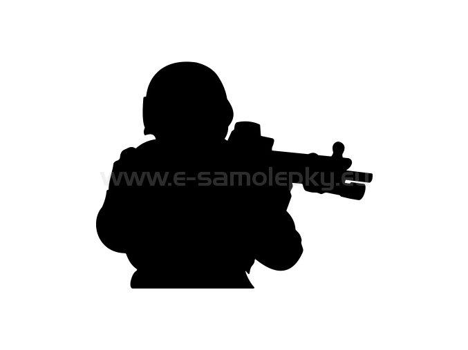 Samolepka - Voják 08