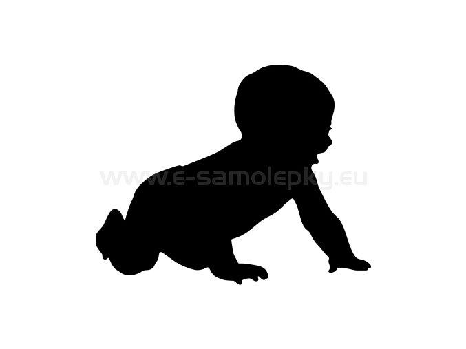Samolepka - Dítě v autě 02