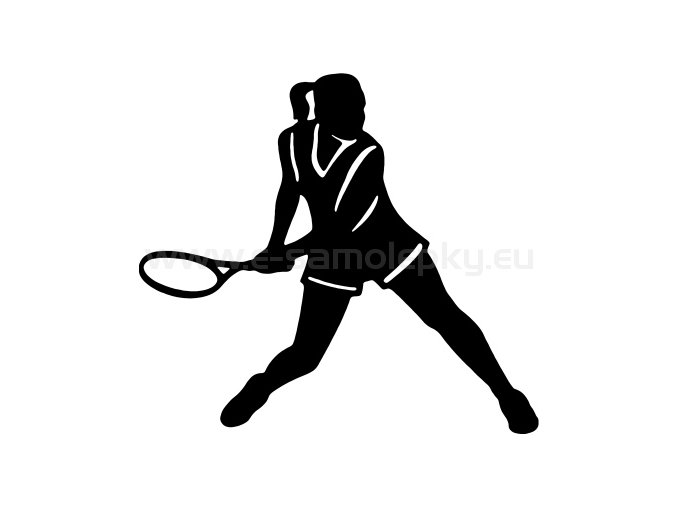 Samolepka - Tenistka 06
