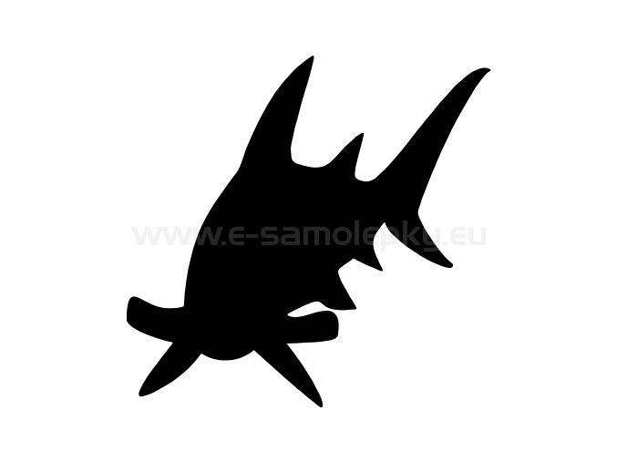 Samolepka - Žralok 04