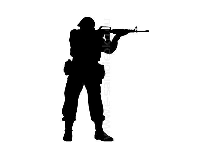 Samolepka - Voják 09