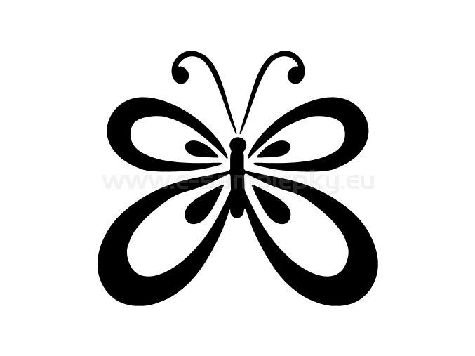 Samolepka - Motýl 02