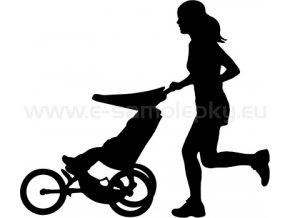 Samolepka - Jogging Stroller - žena