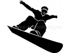 Samolepka - Snowboardista 10