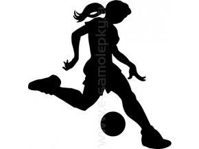 Samolepka - Fotbalistka 02