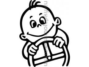 Samolepka - Dítě v autě 05