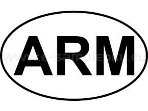 Samolepka - MPZ - Arménie - ARM - BEZ BÍLÉHO PODKLADU