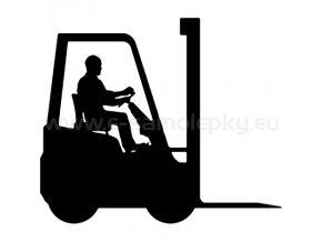 Samolepka - Vysokozdvižný vozík 02