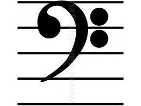 Samolepka - Basový klíč 02