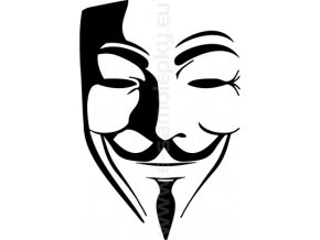 Samolepka - Maska Anonymous - Guy Fawkes