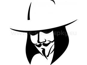 Samolepka - Maska Anonymous - Guy Fawkes 02