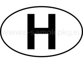 Samolepka - MPZ - Maďarsko - H - BEZ BÍLÉHO PODKLADU