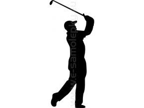 Samolepka - Golfista 08