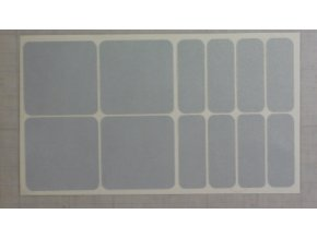 Reflexní čtverce a obdélníky - Bílé
