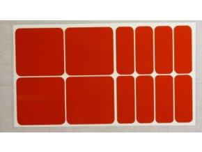 Reflexní čtverce a obdélníky - Červené