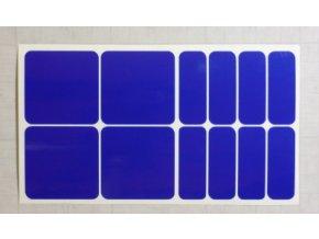 Reflexní čtverce a obdélníky - Modré