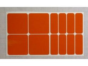 Reflexní čtverce a obdélníky - Oranžové