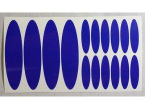Reflexní samolepka: Elipsy - Modré
