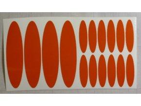 Reflexní samolepka: Elipsy - Oranžové