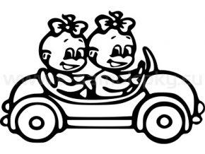Samolepka - Dítě v autě - 2 holky 02
