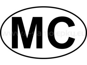 Samolepka - MPZ - Monaco - MC - BEZ BÍLÉHO PODKLADU