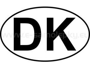 Samolepka - MPZ - Dánsko - DK - BEZ BÍLÉHO PODKLADU