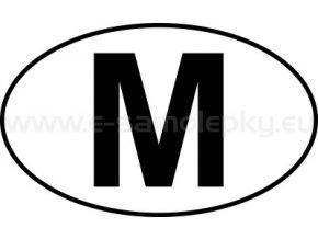 Samolepka - MPZ - Malta - M - BEZ BÍLÉHO PODKLADU