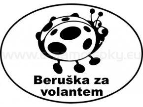 Samolepka - Beruška za volantem 02