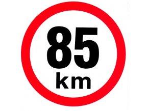Samolepka - Omezená rychlost 85 km/h