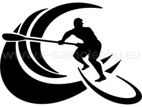 Samolepka - Paddleboarding