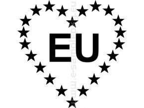 Samolepka - EU mám rád