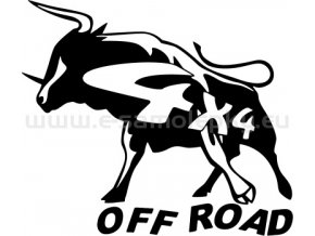 Samolepka - 4x4 - Býk - off road
