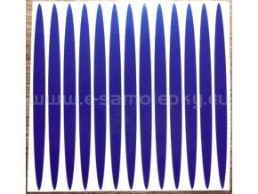Reflexní samolepka: Elipsy 02 - Modré