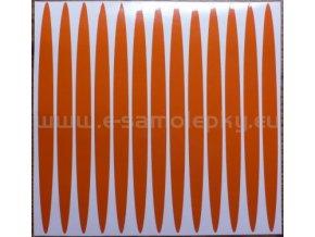 Reflexní samolepka: Elipsy 02 - Oranžové