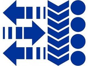 Reflexní tvary - modré