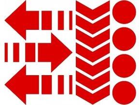 Reflexní tvary - červené