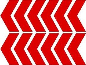 Reflexní šipky - červené