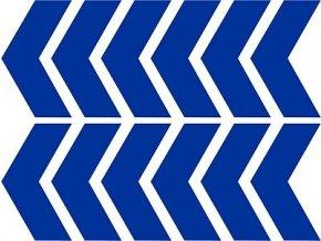 Reflexní šipky - modré