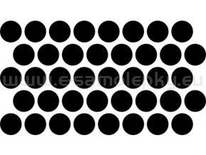 Samolepka - Kolečka průměr 1,5cm 40ks