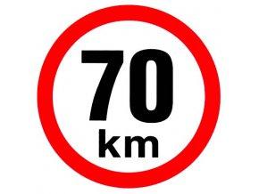 Samolepka - Omezená rychlost 70 km/h