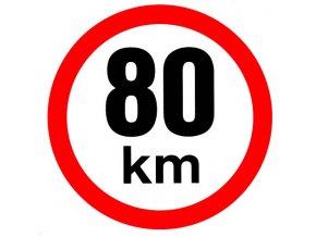 Samolepka - Omezená rychlost 80 km/h