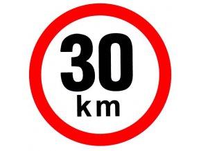 Samolepka - Omezená rychlost 30 km/h