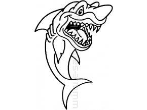 Samolepka - Žralok 06