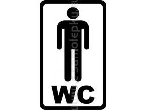 Samolepka - WC MUŽI