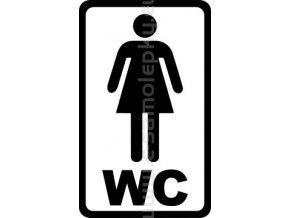 Samolepka - WC ŽENY