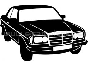 Samolepka - Mercedes W 123 CE